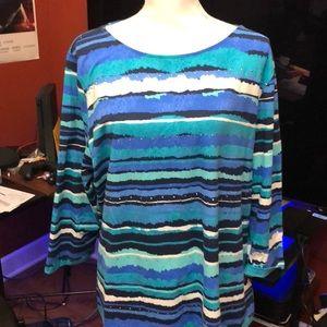 Ruby Rd. Tops - Ruby Road blouse 3/4 length sleeves